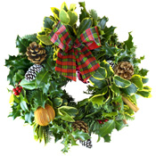 Luxury 10in Decorated Holly Wreath