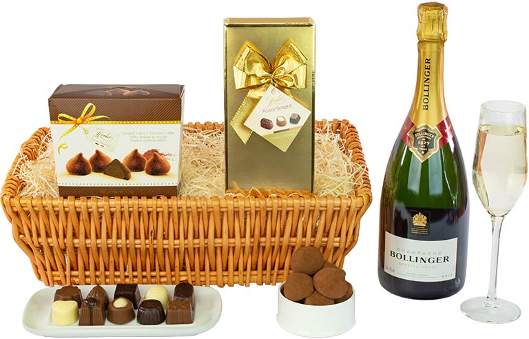 Half Bottle of Champagne and Chocolate Truffles