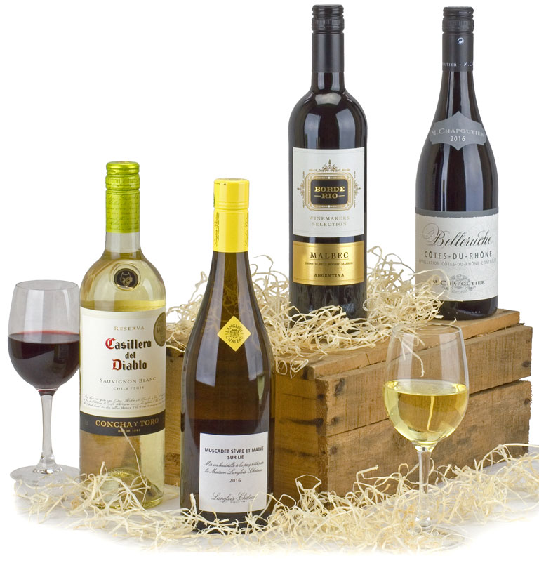 Quartet of World Wines in Gift Box