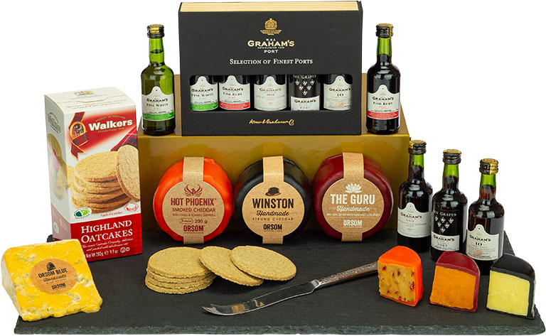 Graham's 5 Port & Cheese Festive Selection Box