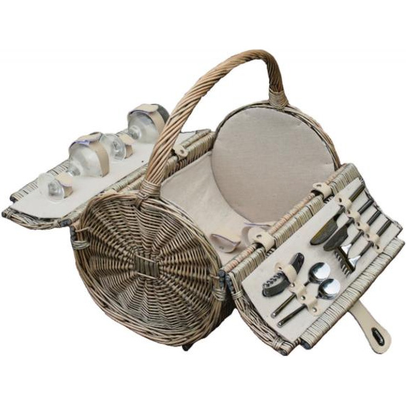 Picnic Barrel Basket for 2 - Empty