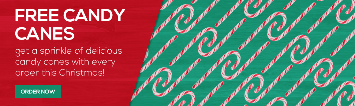 Free Candy Canes with every order this Christmas